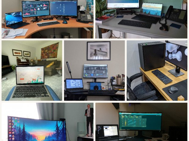 Some of our own work from home setups